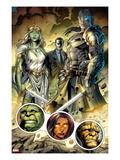 Incredible Hulks No.619: Jarella, Glenn Talbot, and Hiroim Standing Prints by Paul Pelletier