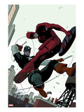 Daredevil No.2 Cover: Daredevil and Captain America Fighting Kunstdruck von Paolo Rivera