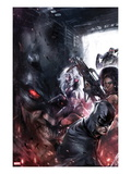 Shadowland: Blood on the Streets No.4 Cover: Shroud, Misty Knight, and Silver Sable Posing Print by Francesco Mattina