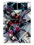 The Amazing Spider-Man No.677: Daredevil and Spider-Man Fighting and Falling Prints by Emma Rios