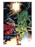 Thor The Mighty Avenger No.6 Cover: Thor and Fin Fang Foom Standing Prints by Chris Samnee