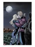 Hawkeye & Mockingbird No.4: Hawkeye and Mockingbird Kissing Posters by David Lopez
