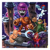 Marvel Super Hero Squad: Sentinel, Juggernaut, Mystique, Mole Man, Absorbing Man and Magneto Posing Posters