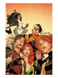 X-Factor 234: Rictor, Wolfsbane, Siryn, Strong, Guy, M, and Shatterstar Poster by Leonard Kirk