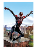 Ultimate Comics Spider-Man No.5: Spider-Man Jumping Art by Sara Pichelli