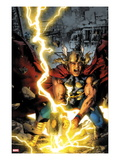 Thor: First Thunder No.3 Cover: Thor Smashing Print by Jay Anacleto