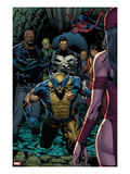 Shadowland No.4: Wolverine, Luke Cage, Punisher, Iron Fist, and Spider-Man Standing Prints by Billy Tan