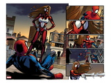 Ultimate Comics Spider-Man No.5: Spider-Man Faces Spider Woman Prints by Sara Pichelli