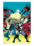 Thor 620 Cover: Thor and Odin Fighting Posters by Pasqual Ferry