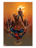Astonishing Spider-Man & Wolverine 4 Cover: Spider-Man and Wolverine Print by Adam Kubert