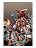 Generation Hope 7 Cover: Hope Summers, Teon Macik, Laurie Tromette, Gabriel Cohuelo, Idie Okonkwo Print by Salva Espin