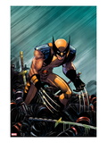 Wolverine: Enemy of The State MGC 20 Cover: Wolverine Crouching Kunstdruck von John Romita Jr.