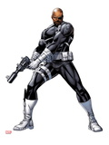 Nick Fury with a Gun Print