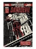 Daredevil Black & White No.1 Cover: Daredevil Standing on a Rooftop Print by David Aja