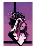 Thunderbolts 163.1 Cover: Songbird and Baron Zemo Print by Roberto De La Torre