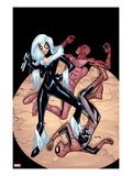The Amazing Spider-Man 677 Cover: Black Cat has Defeated Daredevil and Spider-Man Art by Humberto Ramos
