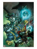Thor: The Deviants Saga 2 Cover: Thor and Ereshkigal Fighting Posters by Stephen Segovia
