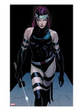 Uncanny X-Force No.3: Psylocke Walking Posters by Jerome Opena