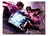 Avengers Annual No.1: Wonder Man and Iron Man Fighting Poster by Gabriele DellOtto
