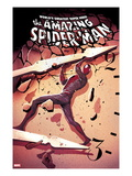 The Amazing Spider-Man No.679 Cover: Spider-Man Lifting Posters by Mike Del Mundo