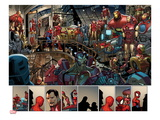 Ultimate Spider-Man #153: Panels with Spider-Man and Iron Man Pósters por Sara Pichelli