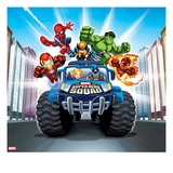 Marvel Super Hero Squad: Spider-Man, Wolverine, Hulk, Iron Man, Captain America, and Human Torch Posters