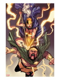 Chaos War No.4: Athena and Hercules Fighting Posters by Khoi Pham