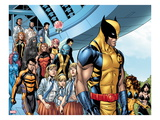 Avengers Academy 29: Wolverine, Stepford Cuckoos, Velocidad, Primal, Pixie, and Dust Print by Tom Grummett