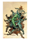 Incredible Hulk No.6 Cover: Hulk Fighting Posters av Leinil Francis Yu