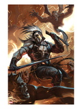 Chaos War: Ares No.1 Cover: Ares Fighting Prints by Marko Djurdjevic