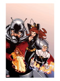 Onslaught Unleashed 2 Cover: Black Widow, Gravity, Firestar, and Ant-Man Running Art by Humberto Ramos