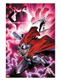 The Mighty Thor No.1 Cover: Thor and the Silver Surfer Poster by Olivier Coipel