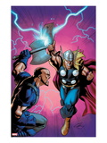 Marvel Adventures Super Heroes 6 Cover: Thor Fighting Poster by Clayton Henry