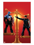 Captain America No.615 Cover: Captain America and Winter Soldier on Opposing Sides of a Scale Posters by Marko Djurdjevic