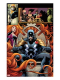 FF 5: Panels with Black Bolt and Medusa Art by Barry Kitson