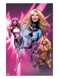 Women of Marvel 2 Cover: Invisible Woman, Songbird, and Shanna the She-Devil  Walking Posters by Greg Land
