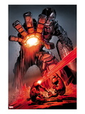 X-Men: Schism 4: Sentinel, Cyclops, and Wolverine Fighting Prints by Alan Davis