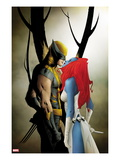 Wolverine 9 Cover: Wolverine and Mystique Kissing Poster by Jae Lee