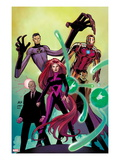 Avengers No.8 Cover: Medusa, Professor X, Dr. Strange, Mr. Fantastic, and Iron Man Posters by John Romita Jr.