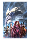 The Thanos Imperative: Devestation 1 Cover: Medusa, Gladiator, Silver Surfer, and Gamora Prints by Alex Garner