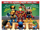 Marvel Super Hero Squad: Wolverine, Iron Man, and Thor Poster