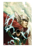Journey Into Mystery No.622 Cover: Thor and Loki Posters by Stephanie Hans