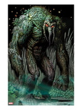 Thunderbolts 154 Cover: Man-Thing Walking at Night Print by Greg Land