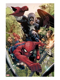 Avenging Spider-Man No.5: Spider-Man and Captain America Prints by Leinil Francis Yu