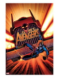 Secret Avengers 17 Cover: Steve Rogers Falling in front of a Truck Posters by John Cassaday