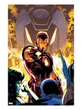 Iron Age 1 Cover: Iron Man Posing Poster by Lee Weeks