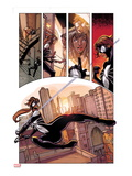 Spider-Island: The Amazing Spider-Girl No.1: Spider-Girl Swinging and Screaming through the City Prints by Pepe Larraz
