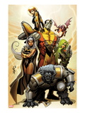 Astonishing X-Men No.38 Cover: Storm, Beast, Colossus, Kitty Pryde, Lockheed, & Agent Abigail Brand Posters by Salvador Larroca