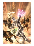 Annihilators 1 Cover: Silver Surfer, Gladiator, Quasar, Beta-Ray Bill, and Ronan the Accuser Posters by Alex Garner
