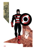 Captain America Corps 3 Cover: Captain America Walking with his Shield Posters by Phil Jimenez